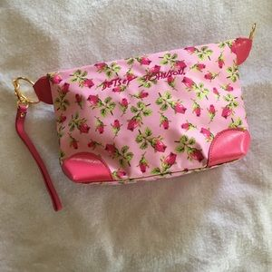 Betsey Johnson wristlet/ cosmetic pouch/ bag